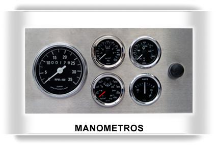 Indicadores, manometros, termometros, tacomertros, horometros, motores diesel