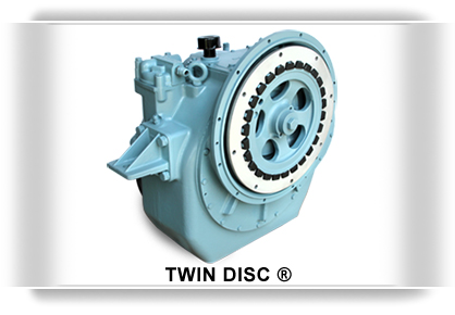 Twin Disc, transmission marina, embrague marino, transmision Twin Disc. Repuestos para twin disc